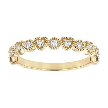 14K Yellow Gold 1/4ct Diamonds Hearts and Circles Band Ring by Beverly Hills Charm (7)
