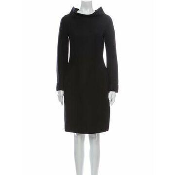 Vintage Knee-Length Dress Wool