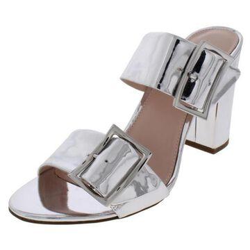 Avec Les Filles Womens Millie Velvet Slides Heels