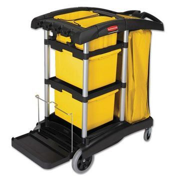 Rubbermaid HYGEN M-fiber Healthcare Cleaning Cart