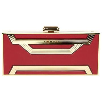 Elie Saab Red Leather Clutch bags