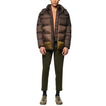 Marc New York Men's Dovers Colorblocked Puffer Jacket with Inset Bib & Removable Hood