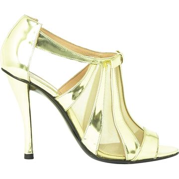 Robert Clergerie Gold Leather Heels