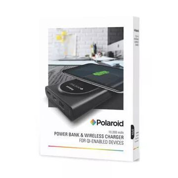 Polaroid Power Bank & Wireless Charger -