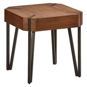International Caravan Hamburg Hexagon Wood End Table