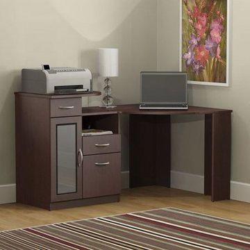Bush Furniture Vantage Corner Desk in Harvest Cherry