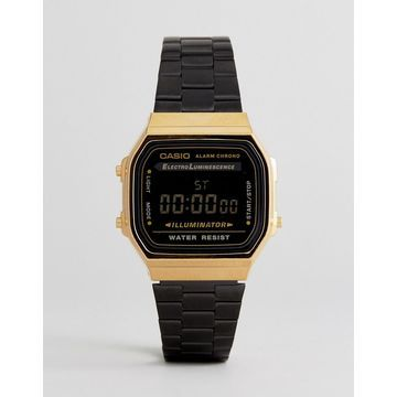 Casio A168WEGB Digital Bracelet Watch In Black
