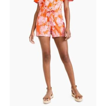 Style & Co Petite Floral-Print Pull-On Shorts, Created for Macy's