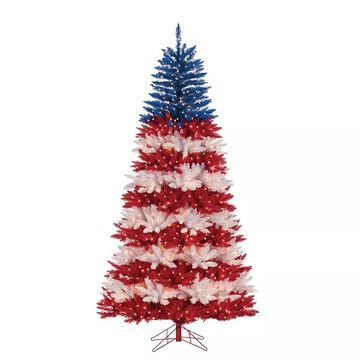 Sterling 7.5-ft. Patriotic Pre-Lit Artificial Christmas Tree, Multicolor