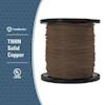 Southwire 2500-ft 14-AWG Solid Brown Copper THHN Wire (By-the-Roll)