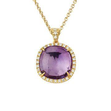 Marco Bicego Jaipur 18K 0.24 Ct. Tw. Diamond & Amethyst Pendant