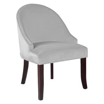 CorLiving Antonio Accent Chair in White Velvet