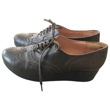 Robert Clergerie Brown Leather Lace ups