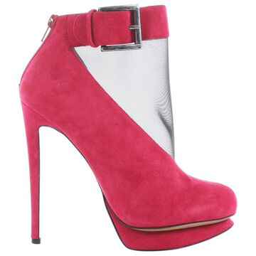 Nicholas Kirkwood Pink Suede Ankle boots