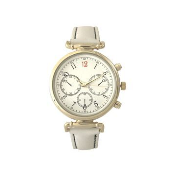 Olivia Pratt Womens White Strap Watch-16557