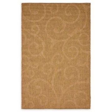 Unique Loom Vine 5' x 8' Indooor/Outdoor Area Rug in Brown