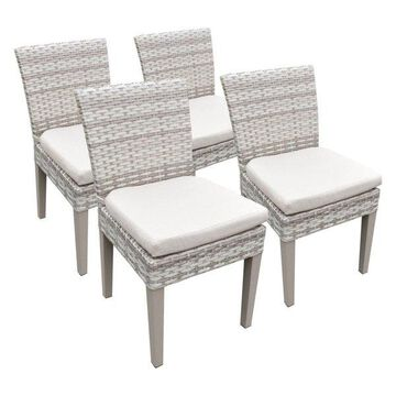 TK Classic Fairmont Patio Dining Side Chair in Beige (Set of 4)