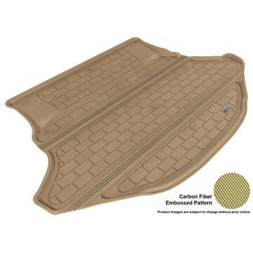 3D MAXpider 2009-2015 Toyota Venza All Weather Cargo Liner in Tan with Carbon Fiber Look