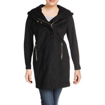 Karl Lagerfeld Paris Womens Winter Wool Blend Midi Coat