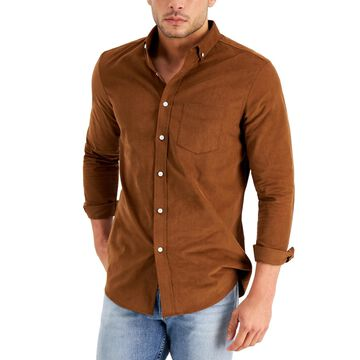 Club Room Men's Regular-Fit Stretch Corduroy Shirt, Created for Macy's