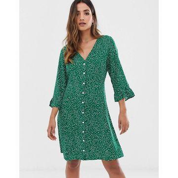 Y.A.S floral button up dress