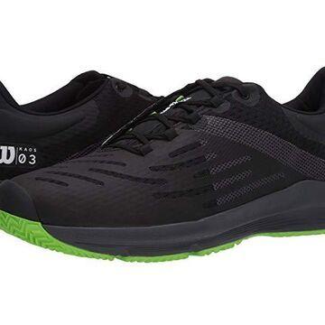 Wilson Kaos 3.0 (Black/Ebony/Blade Green) Men's Tennis Shoes