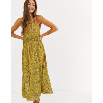 Lost Ink cami midi dress in ditsy floral-Yellow