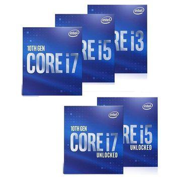 Intel CPU Core i3-10100 i5-10400 i5-10500 i5-10600 i5-10600K i7-10700 i7-10700K i9-10900 i9-10900K 10th Gen Desktop Processor LGA 1200 400 Series Chipset