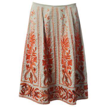 Dries Van Noten Beige Cotton Skirts