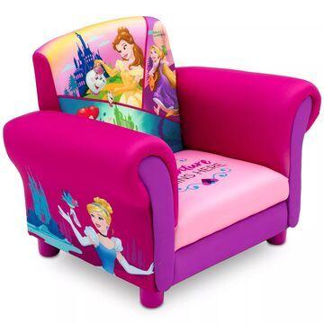 Delta Children Disney& Princess Upholstered Chair in Pink