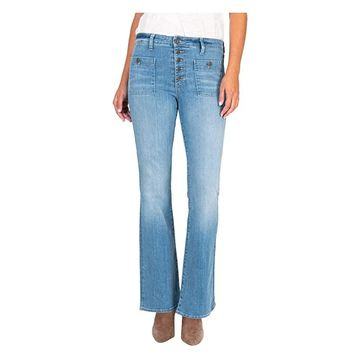 KUT from the Kloth Stella High-Rise Flare in Patient (Patient) Women's Jeans