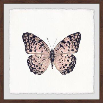Marmont Hill Pink and Black Butterfly Framed Wall Art, 32