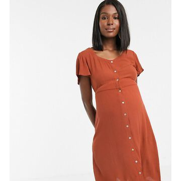 Mamalicous maternity button front smock mini dress