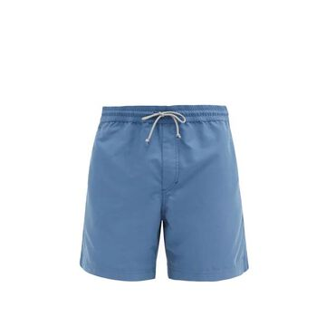 Brunello Cucinelli - Drawstring Swim Shorts - Mens - Blue