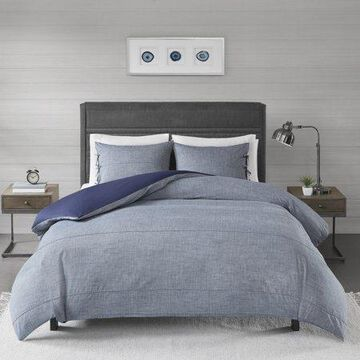 Home Essence Matteo 3 Piece Cotton Yarn Dye Duvet Cover Set