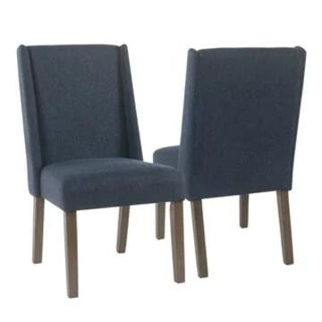 HomePop Dinah Modern Navy Dining Chairs (Set of 2)