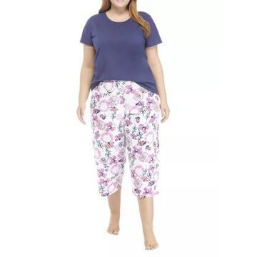 Hue Women's Plus Size Floral Pajama Set - -
