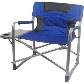 Ozark Trail XXL Folding Padded Director Chair with Side Table