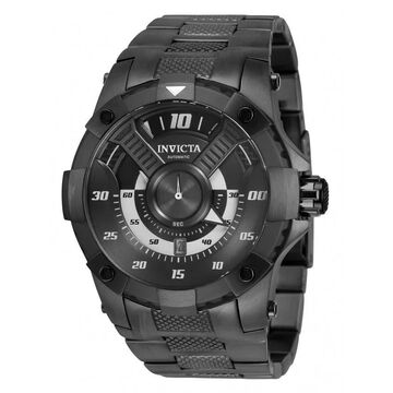 Invicta Men's 33492 'S1 Rally' Automatic Gunmetal Stainless Steel Watch - Black
