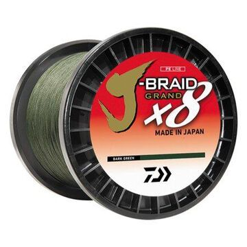 Daiwa J-Braid 8X 3000M Bulk Spool Dark Green JB8U10-3000DG