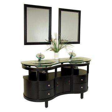 Fresca Unico Espresso Modern Bathroom Vanity With Mirrors