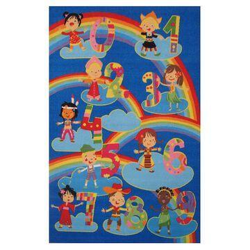 Fun Rugs Fun Time Kids & Numbers Rug, Multicolor, 3X5 Ft