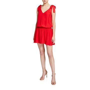 Josephina Smocked V-Neck Sleeveless Dress