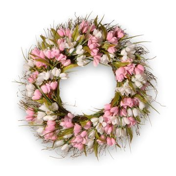 National Tree Company Artificial Tulip Wreath