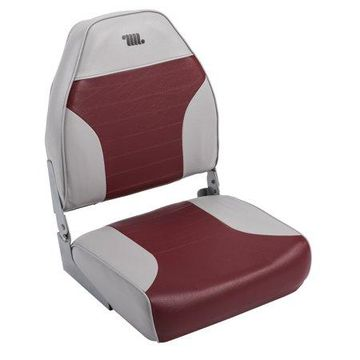 Wise 8WD588PLS-661 Standard High Back Boat Seat, Grey / Red