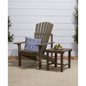 Vifah Renaissance Outdoor Patio Wood 2-Piece Conversation Set