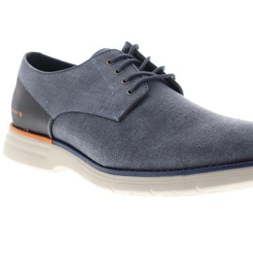 GBX Hammon Mens Blue Canvas Casual Lace Up Oxfords Shoes