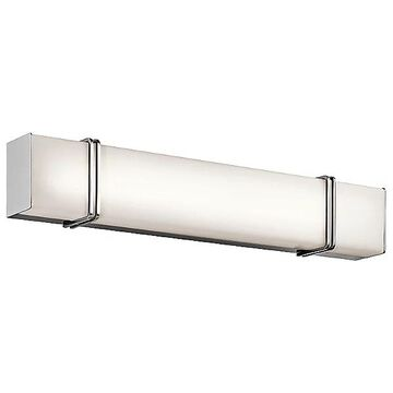 Kichler Impello LED Linear Bath Bar - Color: Silver - Size: 30 ines - 45839CHLED