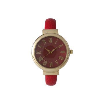 Olivia Pratt Unisex Red Strap Watch-515132