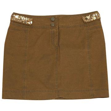 Philosophy Di Alberta Ferretti Brown Cotton Skirts